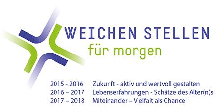 Logo des Leitthemas 2015-2018 mit Jahresthemen