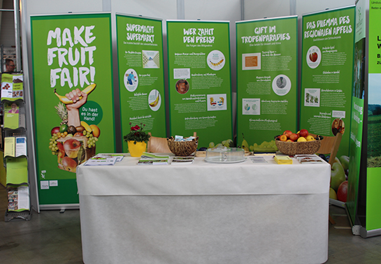 Make Fruit Fair Informationsstand
