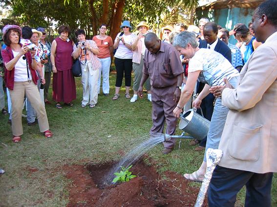 Pflanzaktion in Kenia