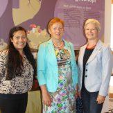 V.l.n.r.: Netzwerkkoordinatorin Christine Binder, Präsidentin Marie-Luise Linckh und Ehrenpräsidentin Hannelore Wörz.