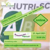 """Online Vortrag: """"Lebensmittelkennzeichnung – was ändert sich?"""""""
